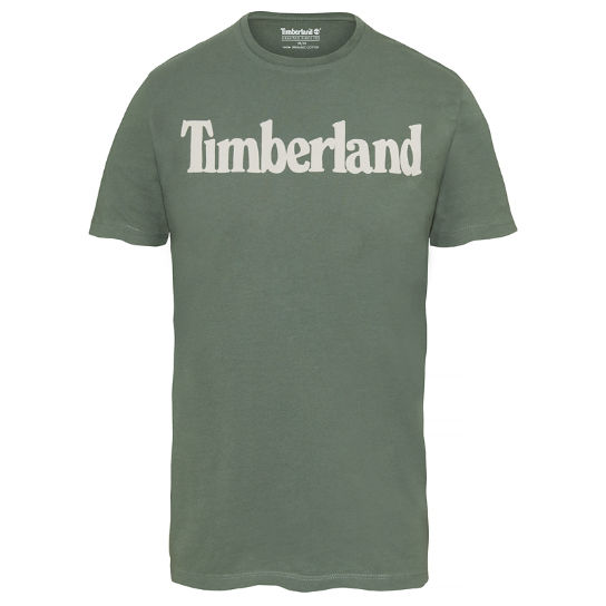 Men's Kennebec River Linear Logo T-Shirt Green | Timberland