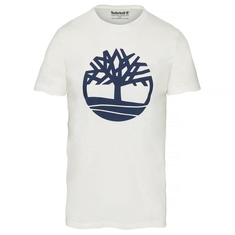 Timberland Men's Kennebec River Tree Logo T-shirt White White, Size XXL