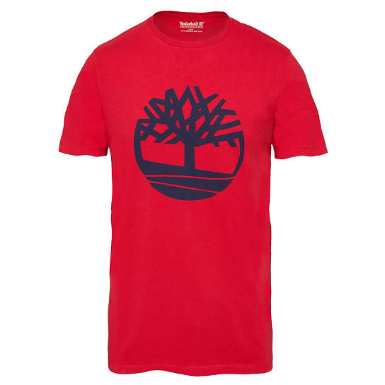 Kennebec River Tree Logo T-Shirt Uomo Rosso | Timberland