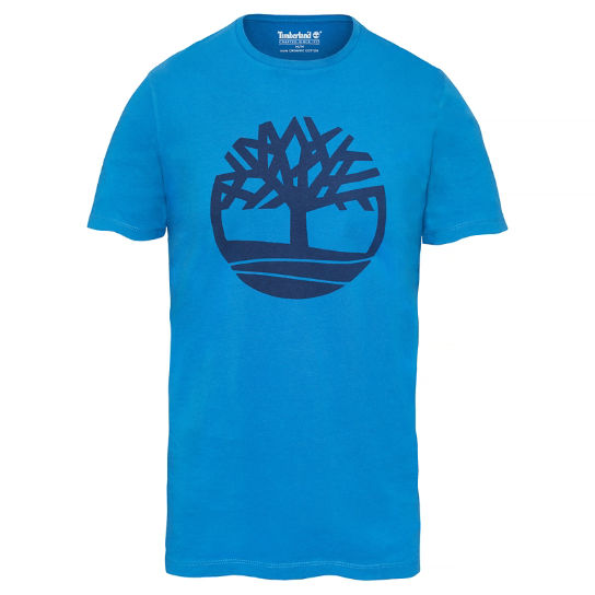 Men's Kennebec River Tree Logo T-Shirt Blue | Timberland