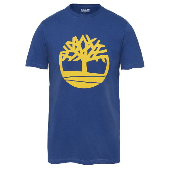 Men's Kennebec River Tree Logo T-Shirt Navy | Timberland