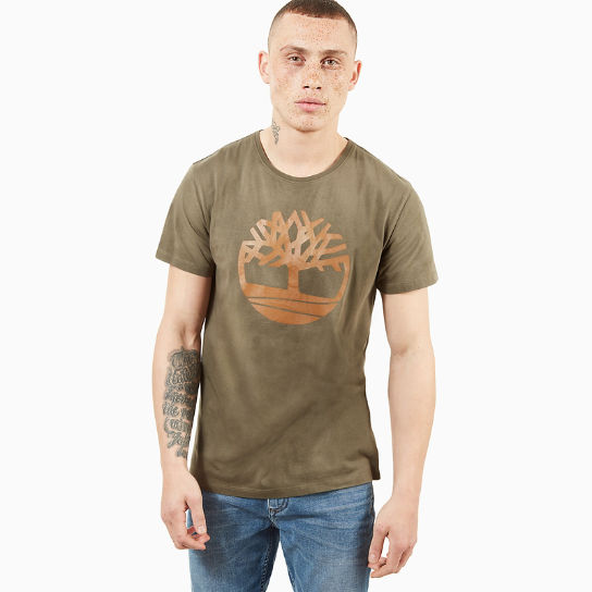Kennebec River Tree Logo T-shirt voor Heren in Groen | Timberland