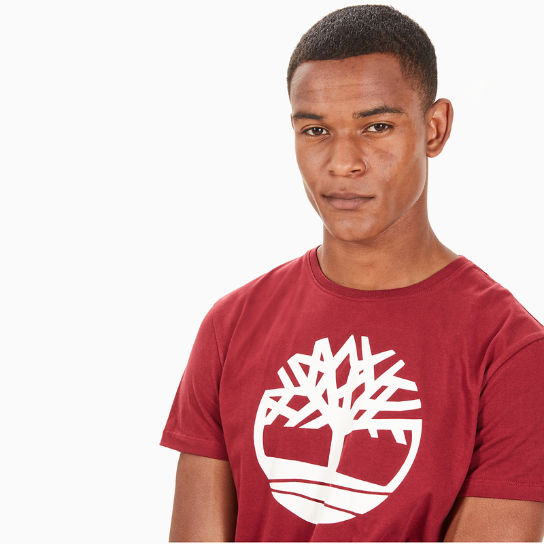 Kennebec River Logo T-Shirt for Men in Red | Timberland