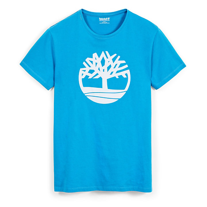 Kennebec River Tree Logo T-Shirt for Men in Indigo-
