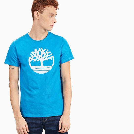 Kennebec River Tree Logo T-Shirt for Men in Indigo | Timberland
