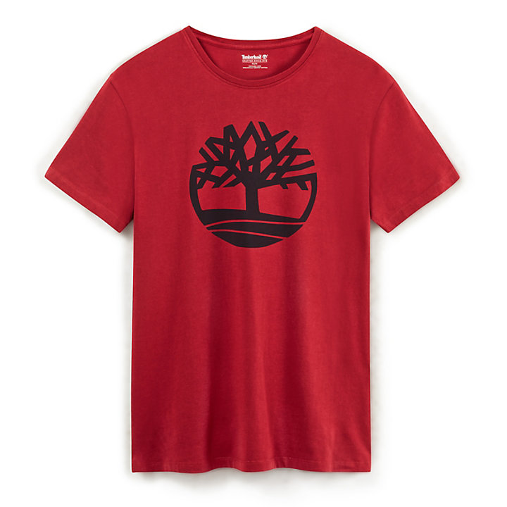 Kennebec River Tree Logo T-Shirt for Men in Red-