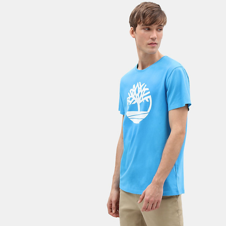 T-shirt da Uomo Kennebec River Tree in blu-