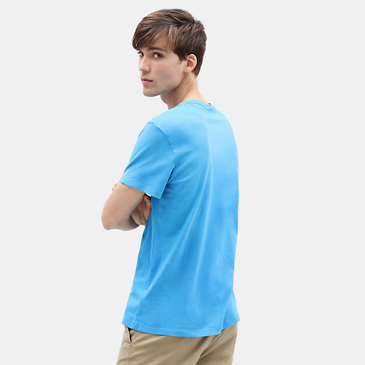 Kennebec River Tree T-Shirt für Herren in Blau-