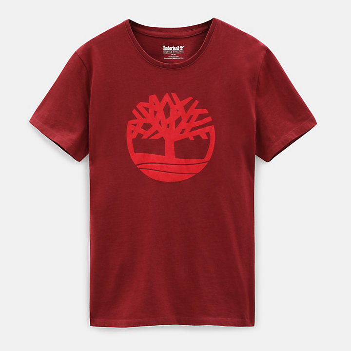 Kennebec River T-shirt voor Heren in rood-