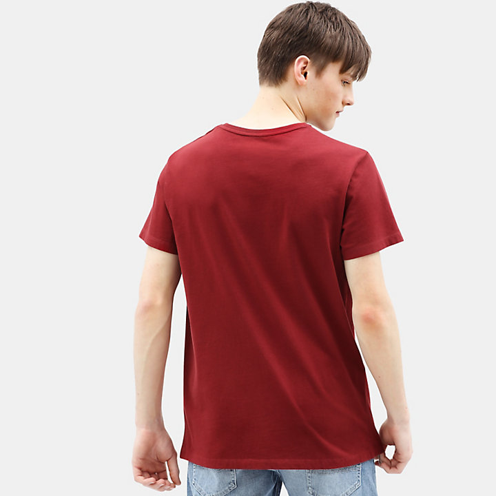 T-shirt Kennebec River Tree pour homme en rouge-