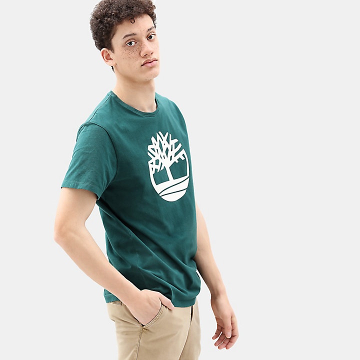 Kennebec River Tree T-shirt for Men in Green-