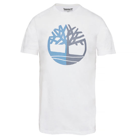 Kennebec River Tree T-shirt Wit Heren | Timberland