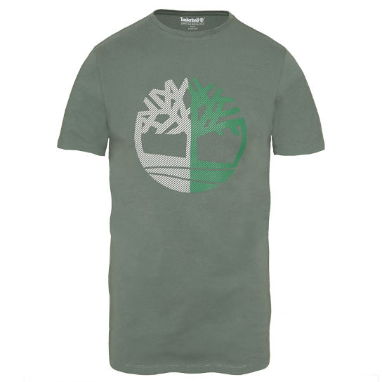Kennebec River Tree T-shirt Groen Heren | Timberland