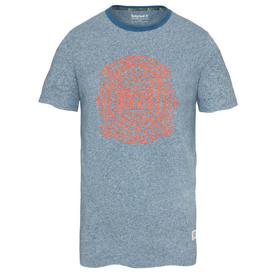 Salmon Brook Story T-shirt Blauw Heren | Timberland