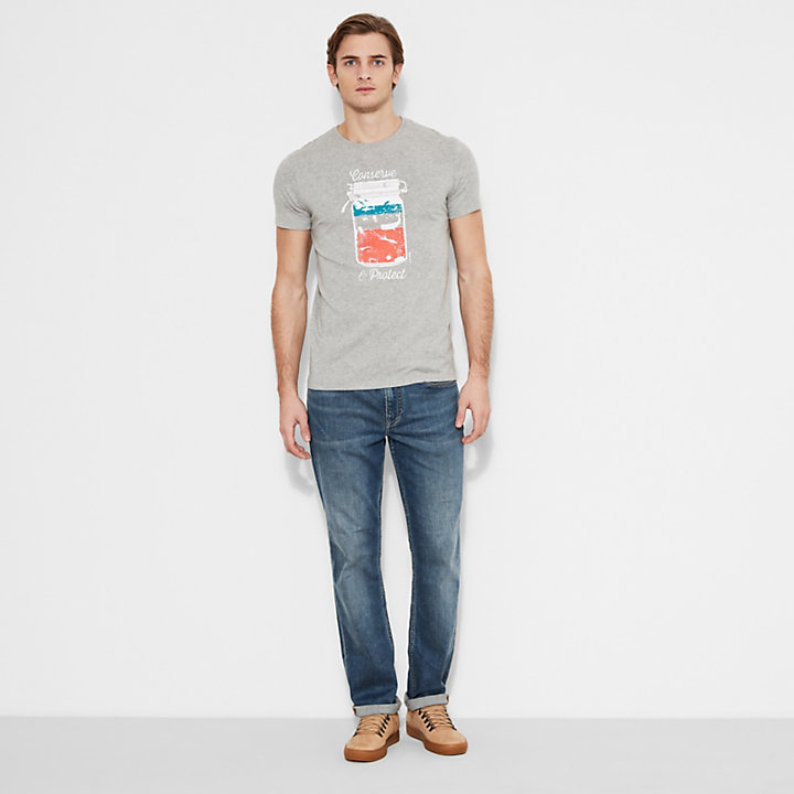 Men's Kennebec River Graphic T-Shirt Grey-