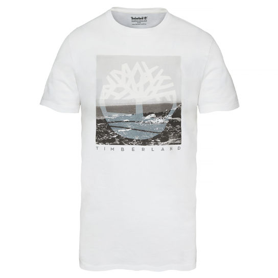 SS Kennebec River T-shirt Wit Heren | Timberland