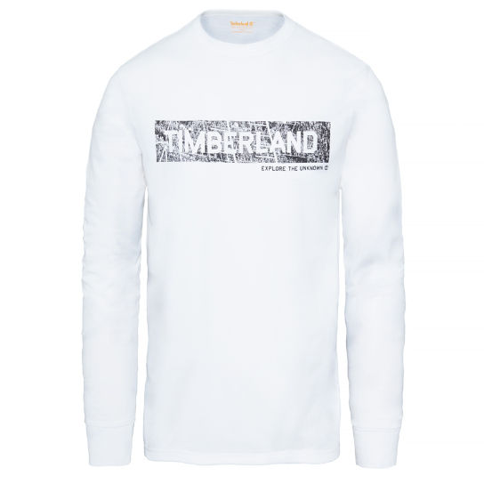 Long Sleeve T-Shirt Wit Heren | Timberland