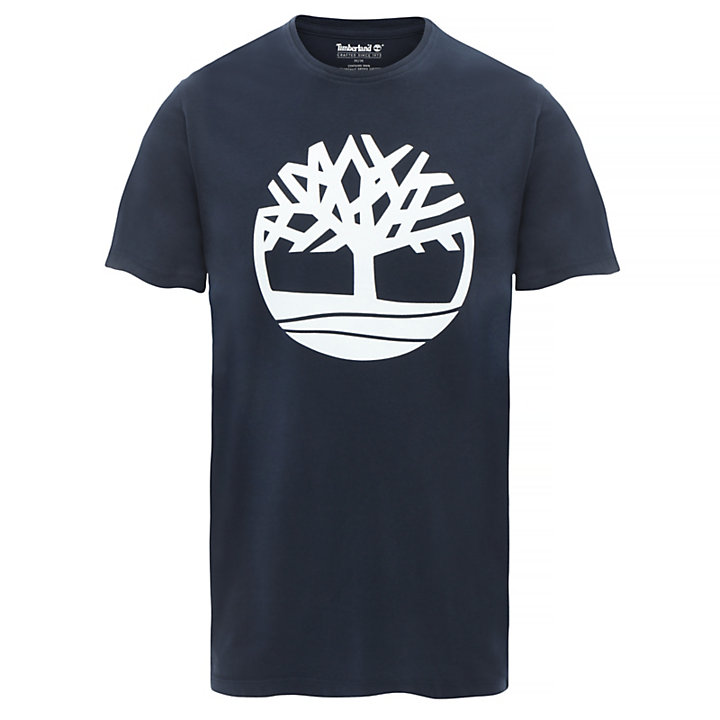 Organic Cotton Logo T-Shirt for Men in Navy-