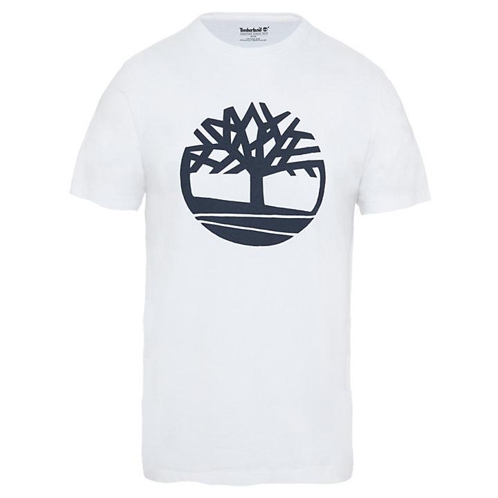 Biologisch Logo T-shirt voor Heren in wit-