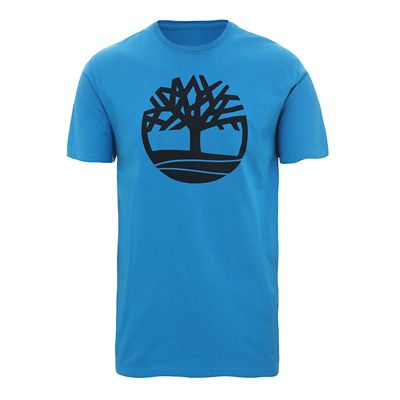 Organic+Cotton+Logo+T-Shirt+for+Men+in+Blue