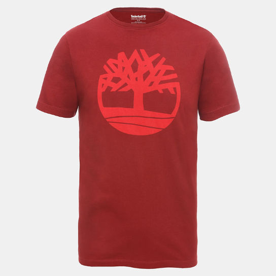 Organic Cotton Logo T-Shirt for Men in Red | Timberland