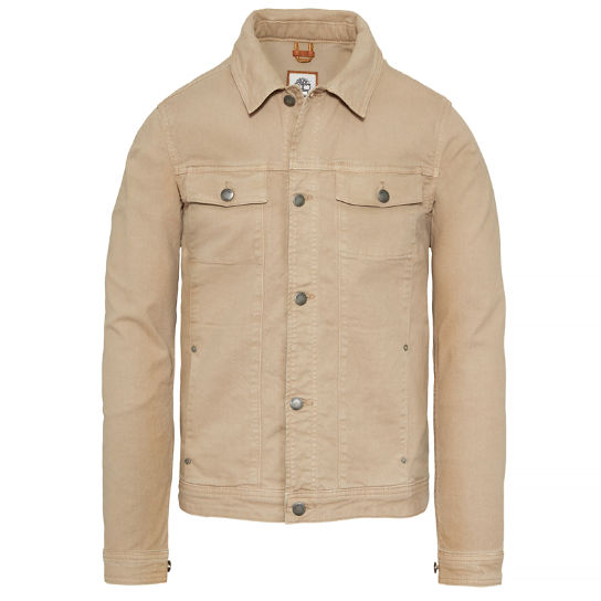 Men's Mount Moosilake Trucker Jacket Beige | Timberland
