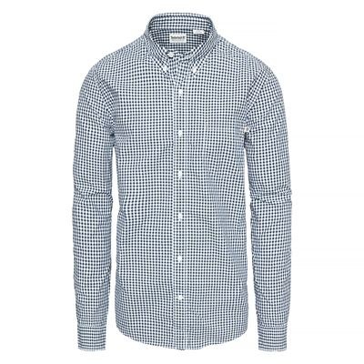 Indian+River+Gingham+Shirt+for+Men+in+Navy