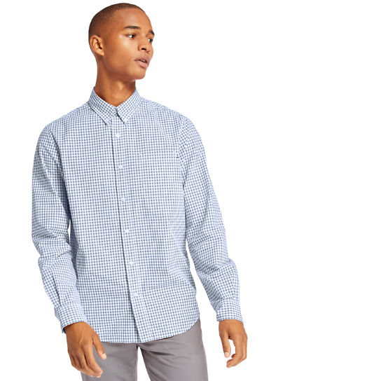 Indian River Gingham Shirt for Men in Blue | Timberland