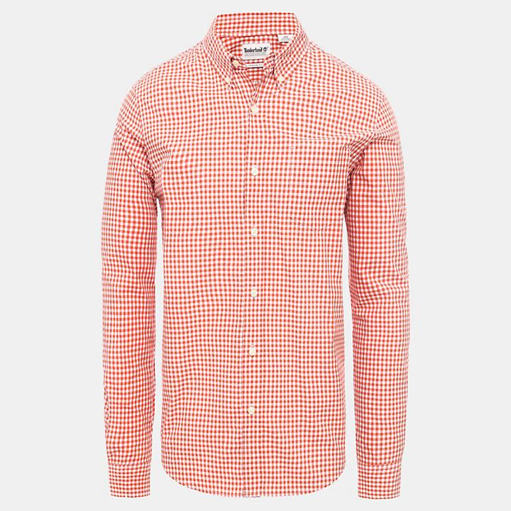 Indian Gingham Overhemd voor Heren in rood-