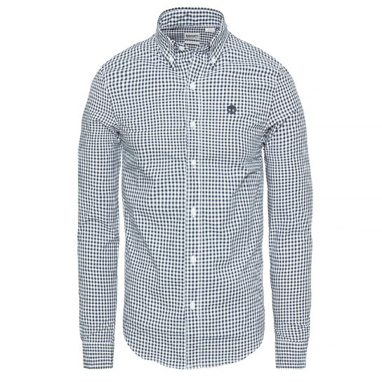 Indian River Gingham Check Shirt Navy Uomo | Timberland