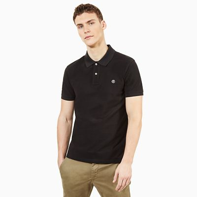 Millers+River+Slim+Polo+Shirt+for+Men+in+Black