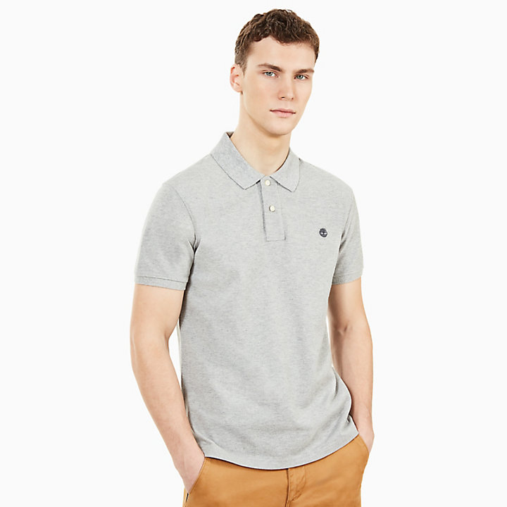 Millers River Slim Polo Shirt for Men in Grey-