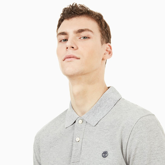 Millers River Slim Polo Shirt for Men in Grey | Timberland