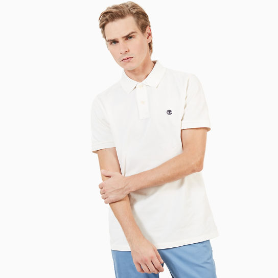 Millers River Slim Polo Shirt for Men in White | Timberland