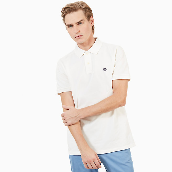 Millers River Slim Polo Shirt for Men in White-
