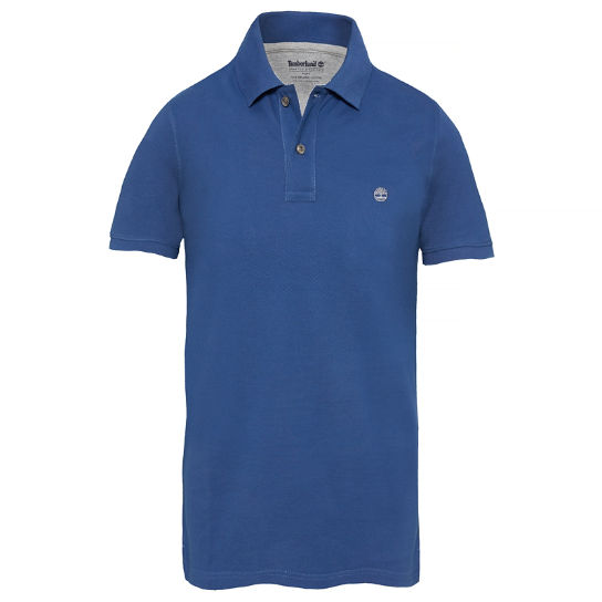 Men's SS Millers River Polo Shirt Night Blue | Timberland