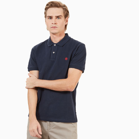 Men's SS Millers River Polo Shirt Navy | Timberland