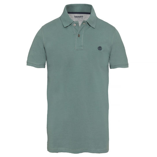 Men's SS Millers River Polo Shirt Green | Timberland