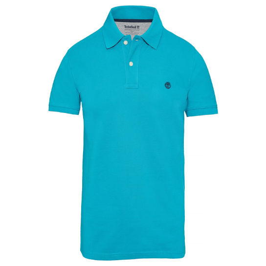 Men's SS Millers River Polo Shirt Turquoise | Timberland