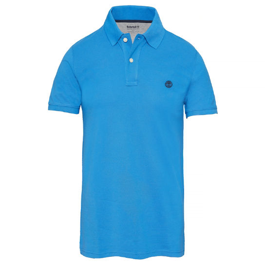 Men's SS Millers River Polo Shirt Blue | Timberland
