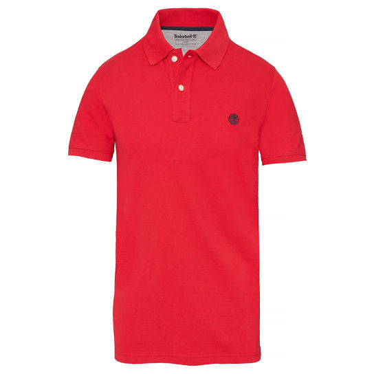 Men's SS Millers River Polo Shirt Red | Timberland