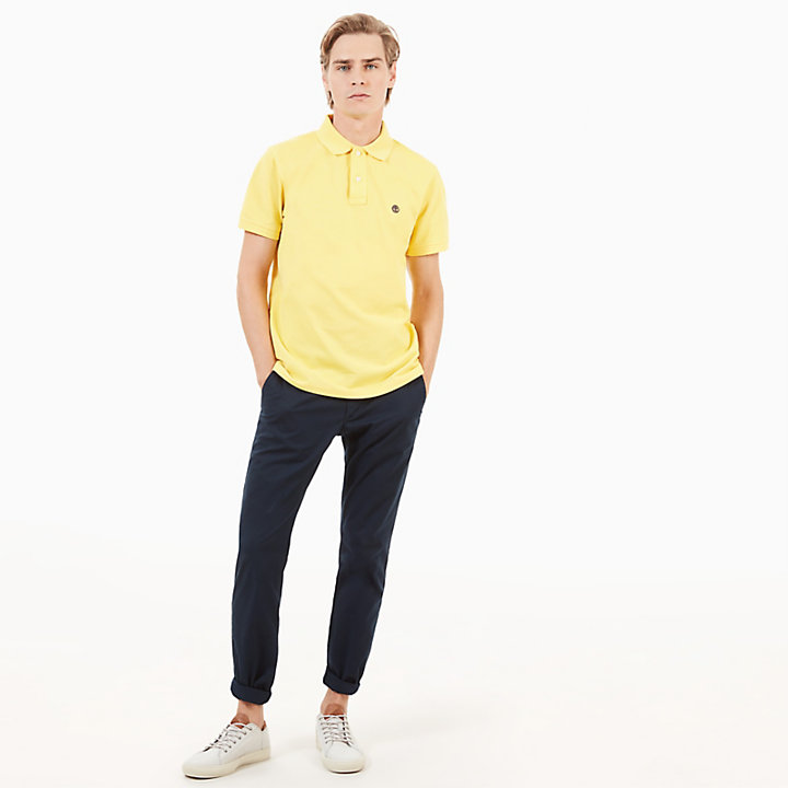 Millers River Slim Polo Shirt for Men in Yellow-