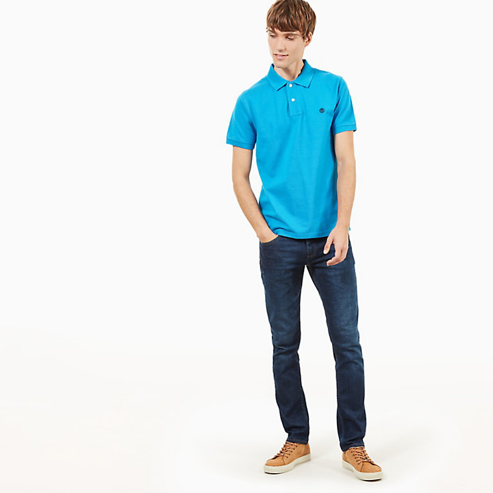 Millers River Slim Polo Shirt for Men in Blue-