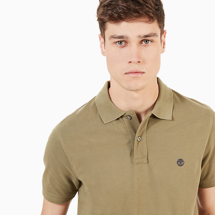 Millers River Slim Polo Shirt for Men in Green-