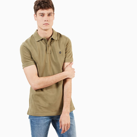 Millers River Slim Polo Shirt for Men in Green | Timberland