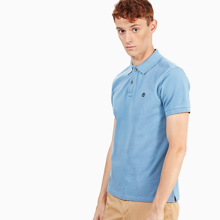 Millers River Slim Polo Shirt for Men in Light Blue-