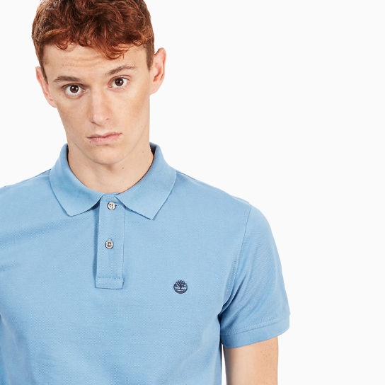 Millers River Slim Polo Shirt for Men in Light Blue | Timberland