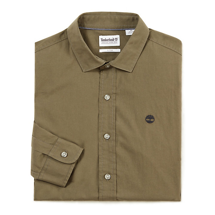Eastham River Shirt for Men in Dark Green-