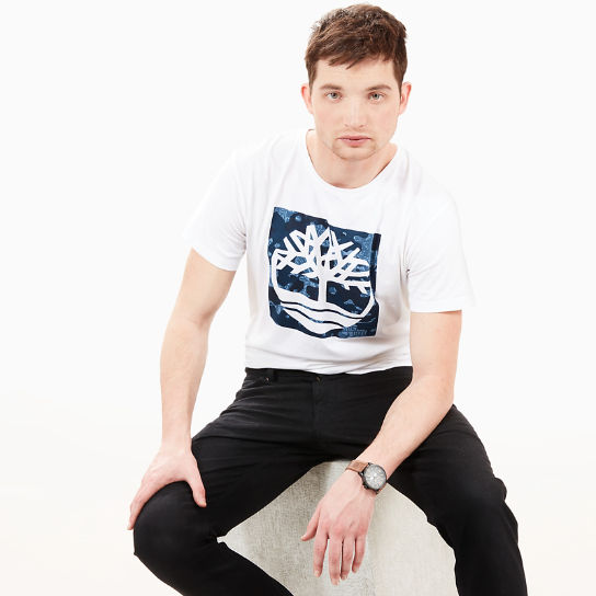 Kennebec River Pattern T-Shirt for Men in White | Timberland