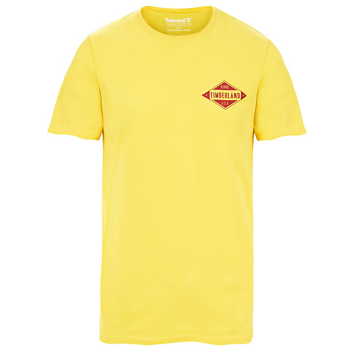 Camiseta Estampada Kennebec River para Hombre en Amarillo-